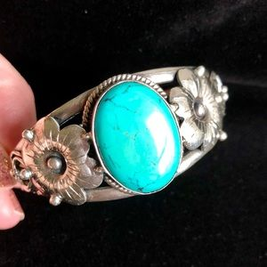 Jewelry - Navajo Turquoise Sterling Silver Cuff Bracelet